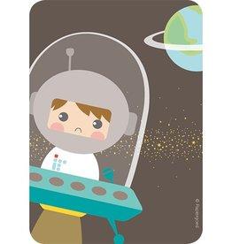 Papiergoed Uitnodiging kinderfeestje Astronaut