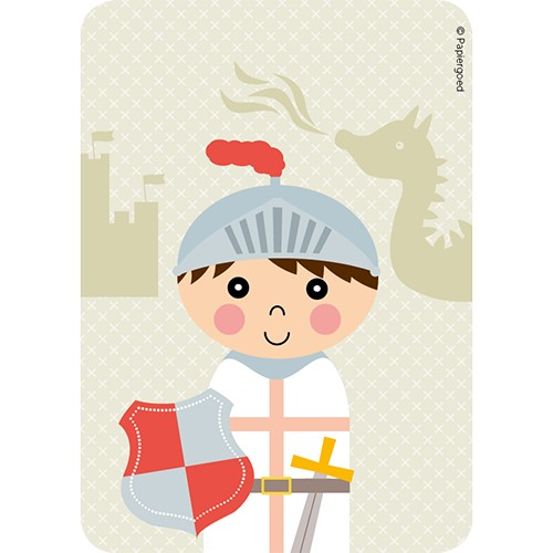 Papiergoed Uitnodiging kinderfeestje Ridder
