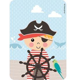 Papiergoed Uitnodiging kinderfeestje Piraat