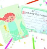 Papiergoed Uitnodiging kinderfeestje Zeemeermin