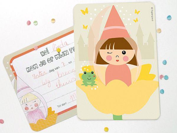Papiergoed Uitnodiging kinderfeestje Fee