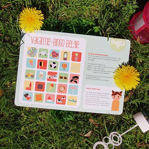 Papiergoed Vakantie bingo België