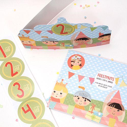 Papiergoed Verjaardagskaart feestmuts