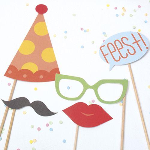 Papiergoed Verjaardagskaart Gekheid op een stokje!