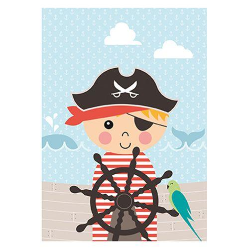 Papiergoed Poster Piraat A3
