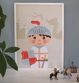Papiergoed Poster Ridder A4