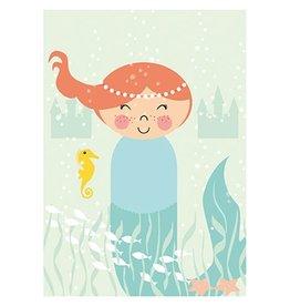 Papiergoed Poster Zeemeermin A4