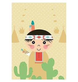 Papiergoed Poster Indiaan 50 x 70