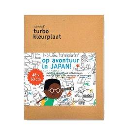 Makii Turbo kleurplaat Japan