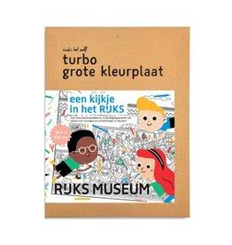 Makii XXL turbo kleurplaat 'Rijksmuseum'