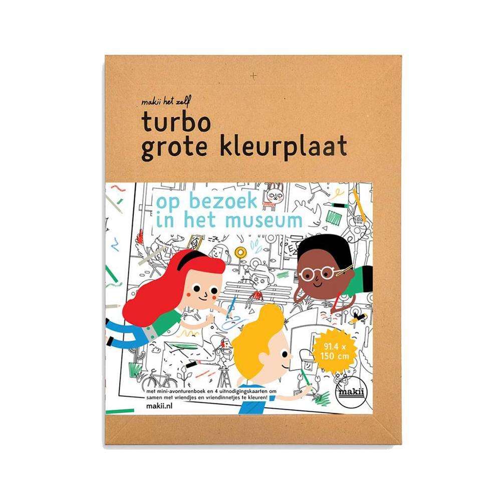 Makii XXL turbo kleurplaat 'Museum'