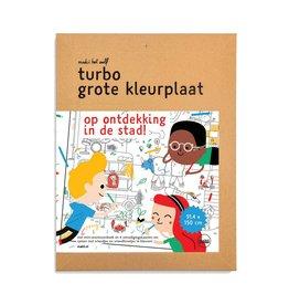 Makii XXL turbo kleurplaat 'Stad'