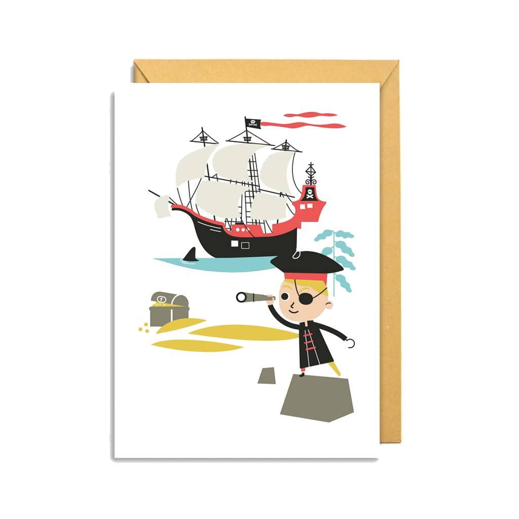 Makii Wenskaart Piraat