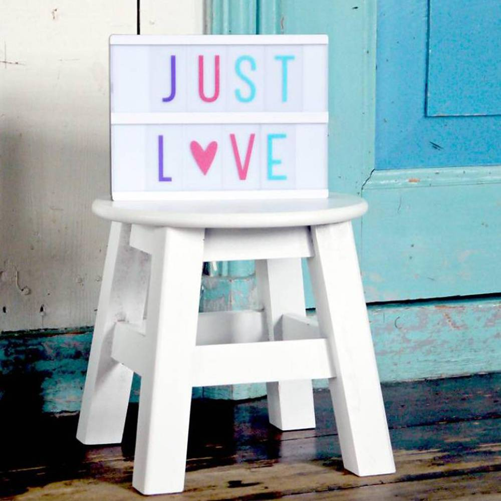 A Little Lovely Company Lightbox letterset pastel