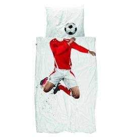 Snurk Voetbal dekbedovertrek - Soccer Champ - Rood
