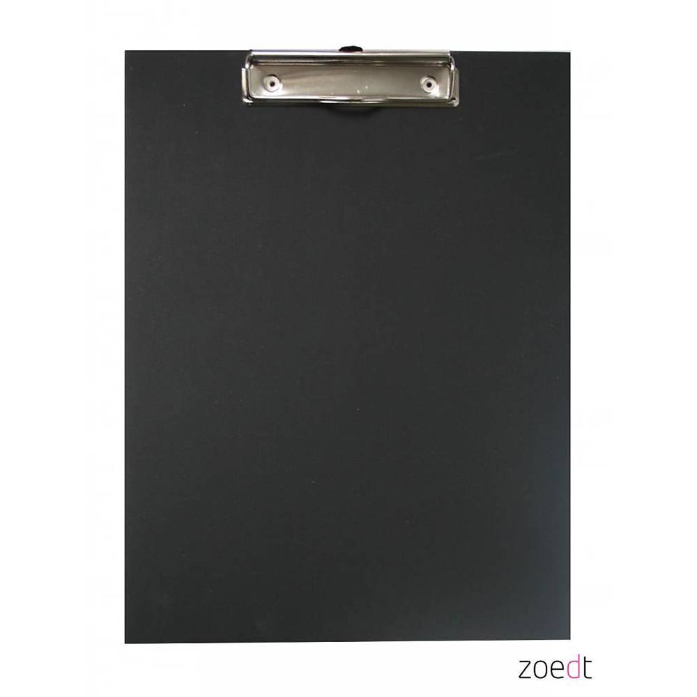 Zoedt Houten klembord zwart - A4