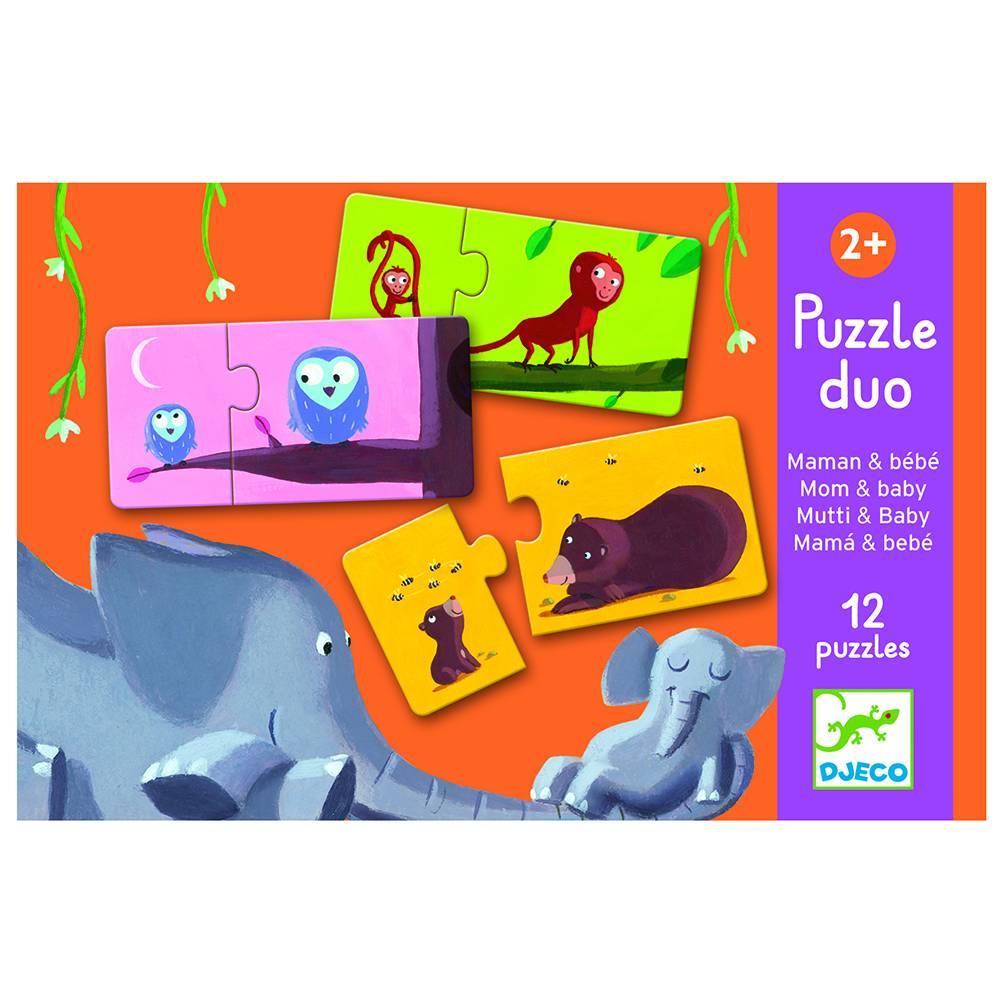 Djeco Puzzel duo; Mama en baby