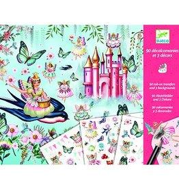 Djeco Wrijfplaatjes Feetjes en prinsessen