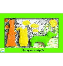 Djeco Wascokrijtjes dieren - groen