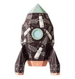 Studio Ditte Muursticker raket satelliet XL