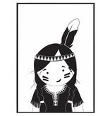 Zoedt Poster Indianen meisje