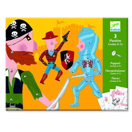Djeco Trekpop cowboys en ridders