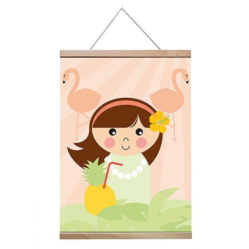 Papiergoed Poster Hawaii meisje A4