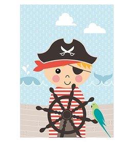 Papiergoed Poster Piraat A4