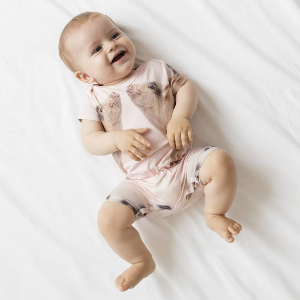 Snurk Baby jumpsuit maat 56 Piggies