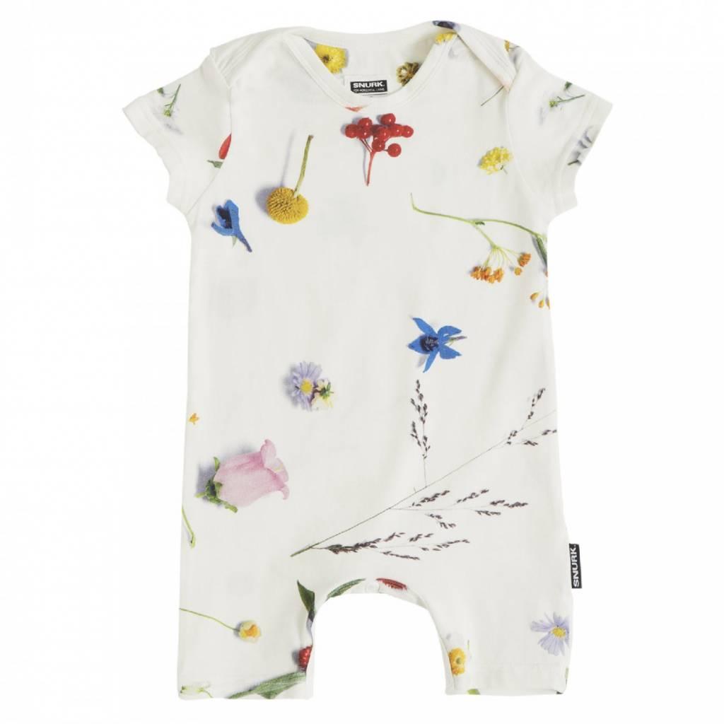 Snurk Baby jumpsuit maat 80 Flower Fields