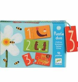 Djeco Puzzel duo; Nummers