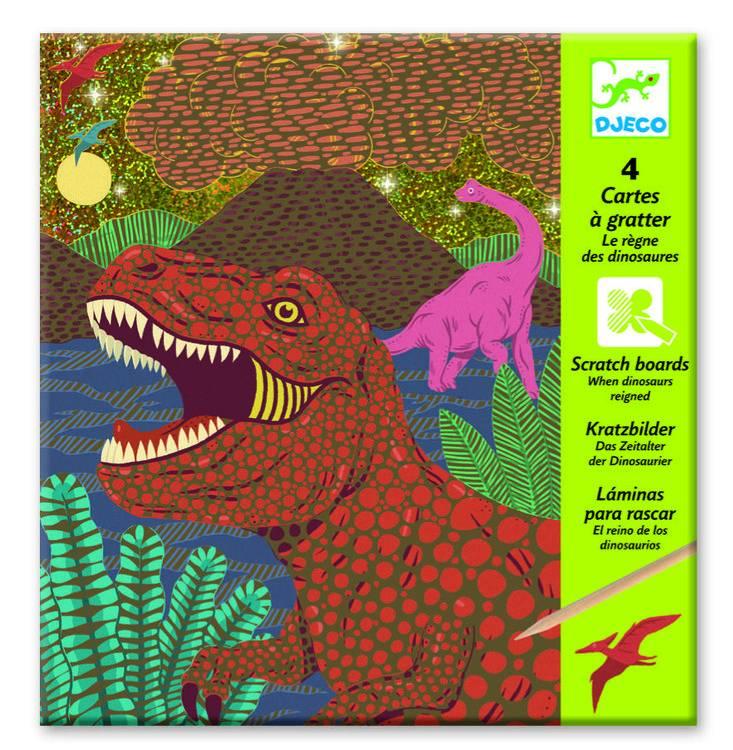 Djeco Kraskaarten dinosaurus