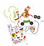 Djeco Voertuigen kleuren - minitotems