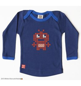 Retro-Rock-and-Robots retro-rock-and-robots - Longsleeve Robotinvader Blauw