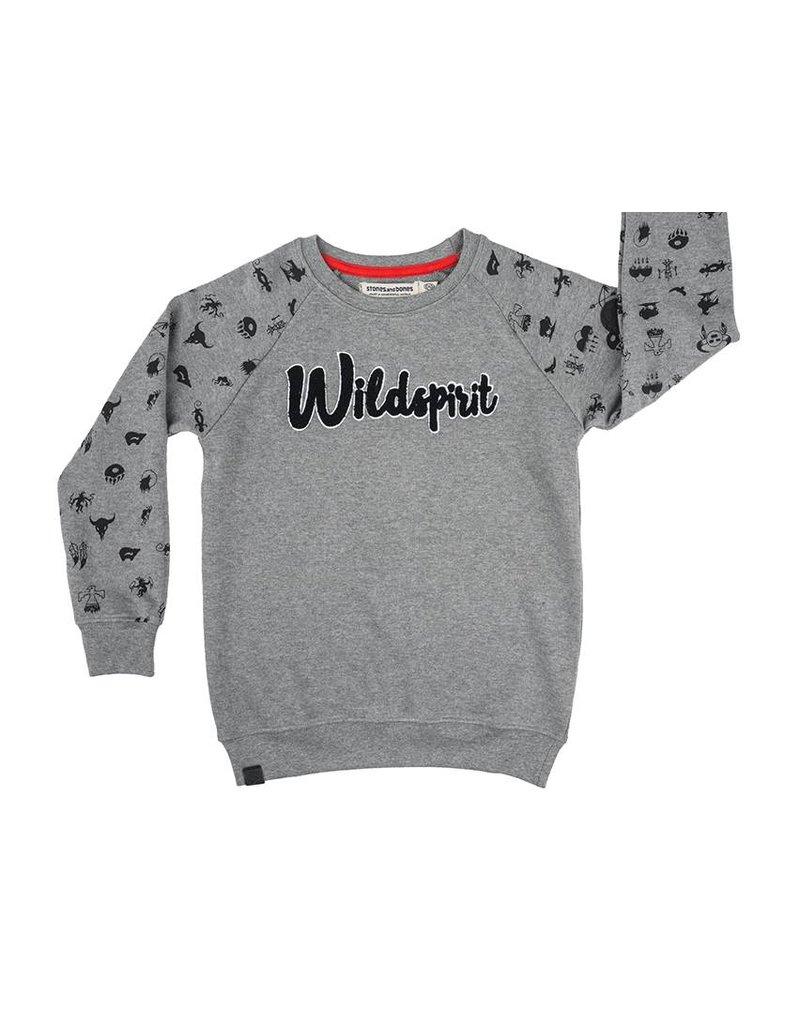 Stones and Bones Stones and Bones - Sweater Imagine Wildspirit Grey