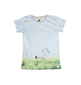 Stones and Bones Stones and Bones - T-Shirt Camille White Horse Ice Blue