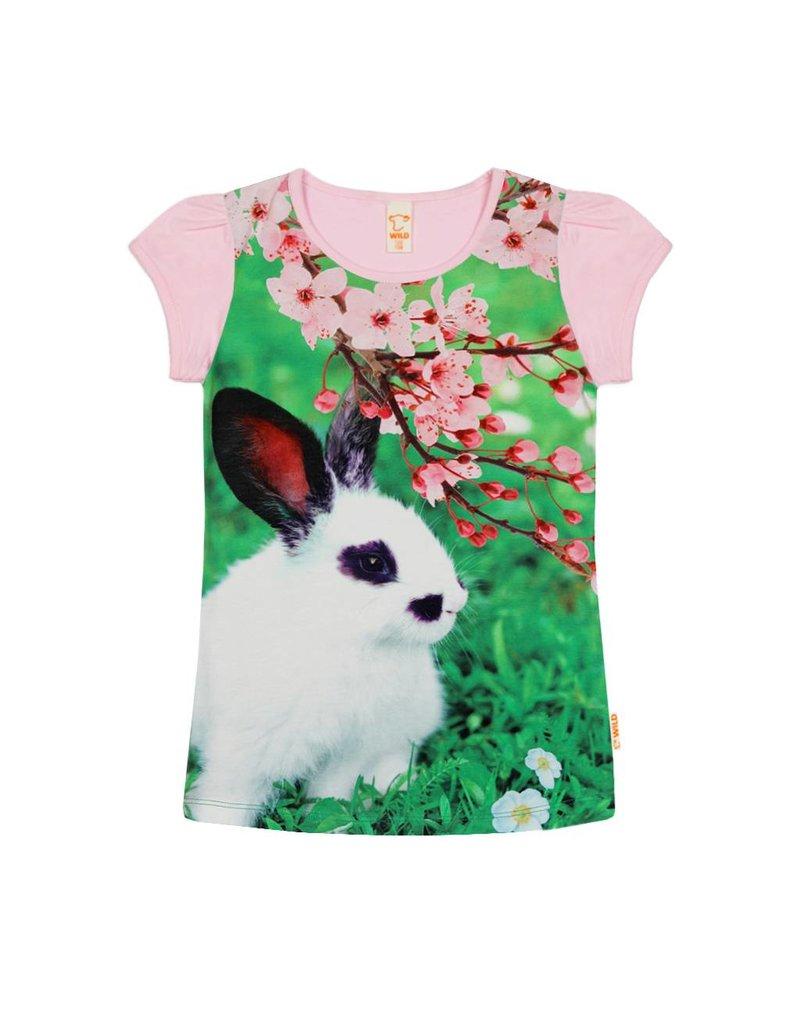 Wild Wild - T-shirt Konijn Roos