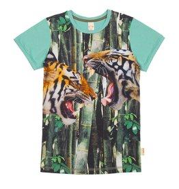 Wild Wild - T-shirt Tijger Groen