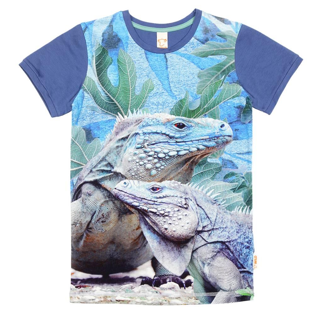 Wild Wild - T-shirt Leguaan Blauw