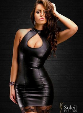 Soleil Fashion Sexy leather dress (leather look)