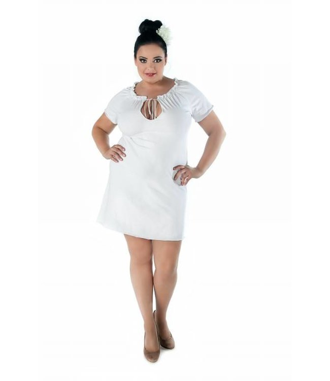 Andalea Delicate white chemise with short sleeves