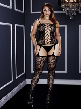 BACI Corset Front Suspender Lace Bodystocking