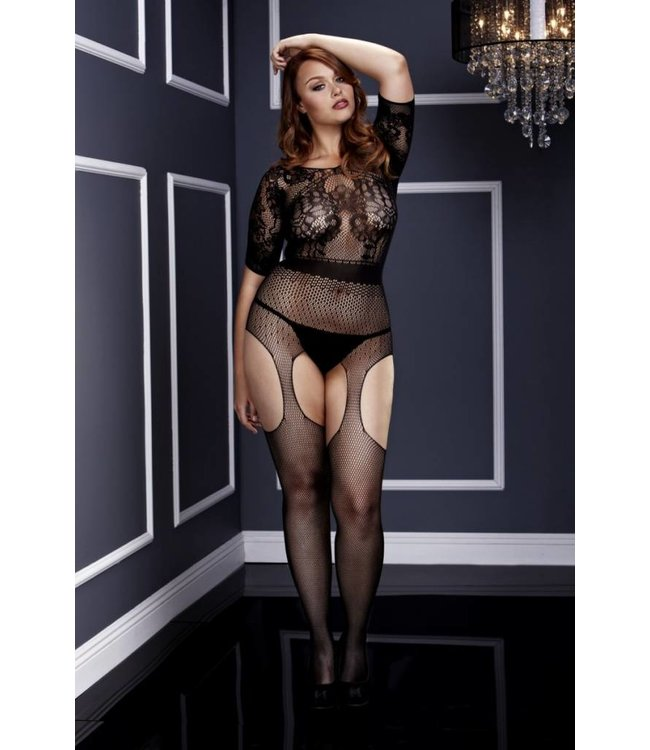 BACI SHORT SLEEVE CROTCHLESS SUSPENDER BODYSTOCKING