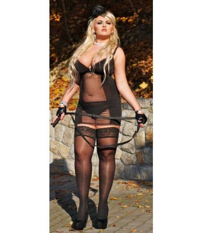 Andalea Hot set: chemise with transparent front and high panties