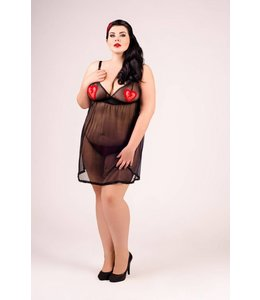 Andalea BLACK TRANSPARENT VALENTINE SET