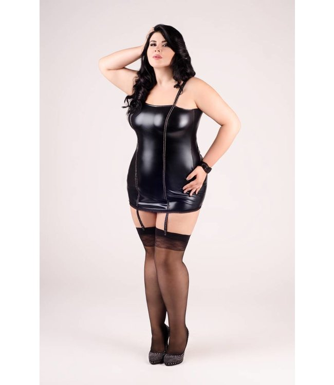 Andalea A chemise with silver details with long silver lacing at the back and strap clips.