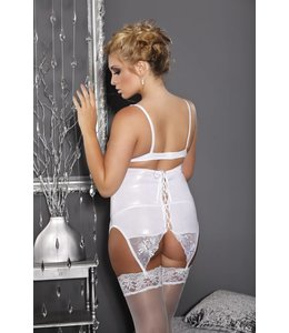 Andalea LONG WHITE GARTER BELT