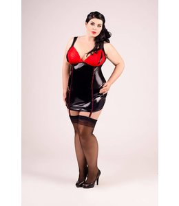 Andalea WET LOOK CHEMISE WITH CUPS AND STRAP CLIPS.