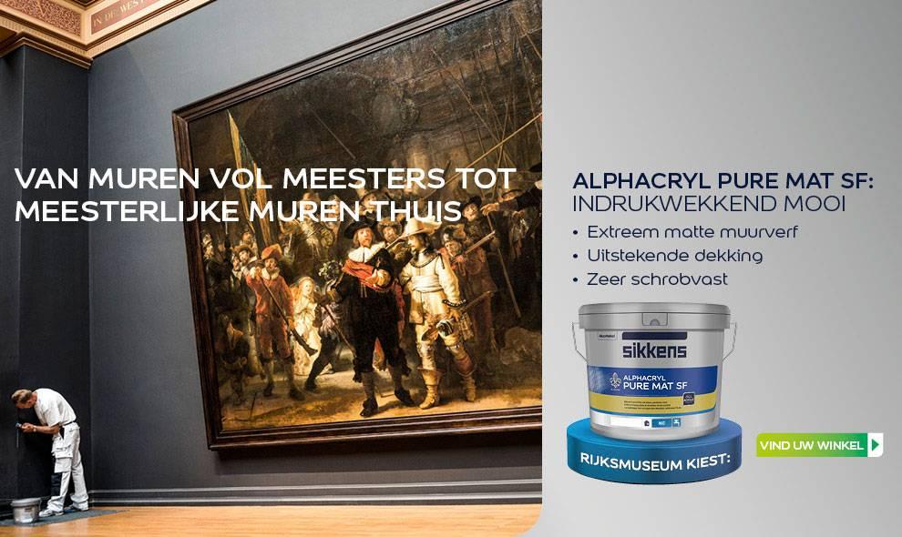 Muurverf Badkamer Sikkens : Sikkens alphacryl pure mat sf nu bij verfonline xl verfonlinexl