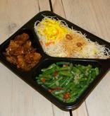 3-vaks maaltijd ajam ketjap en tjap tjay